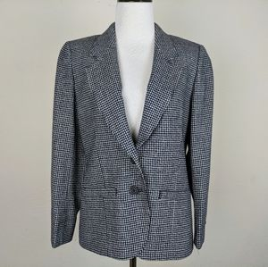 Pendleton Virgin Wool Blue White Blazer Jacket